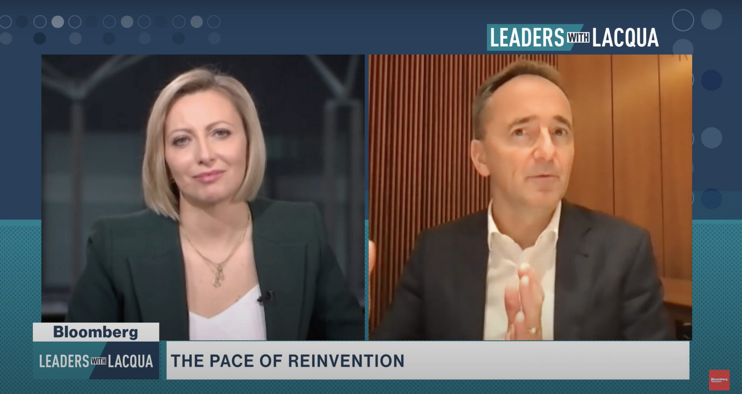 """Dreams and Details Explored on Bloomberg: Jim Hagemann Snabe at """"Leaders with Lacqua"""" (Video)"""